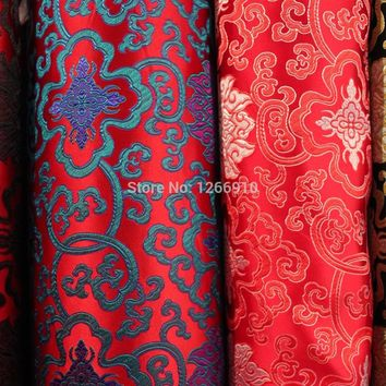 chinese silk brocade  fabric cheongsam cushion cloud Tapestry satin