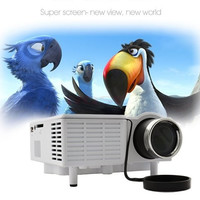 Portable Multimedia LED Projector Mini Proyector For Home Theater Computer Displayer White US Plug  19564|26601 (Color: White) = 1745560644