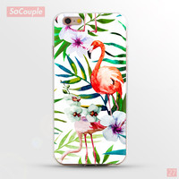 Flamingo Plants & Flowers Painted Ultrathin Soft TPU Back Case Cover Shell for iPhone 5 5s SE 6 6s 6 Plus 6s Plus 7
