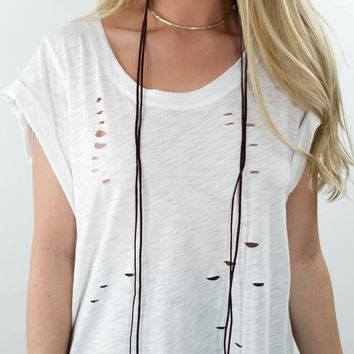 Whimsical Burgundy Double Layered Necklace