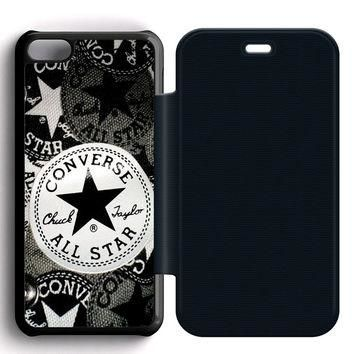 Converse All Star Leather Wallet Flip Case iPhone 5C