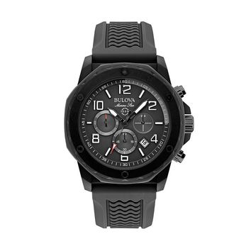 Bulova Men's Marine Star Chronograph Watch - 98B223 (Black)