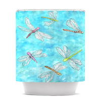 """Rosie Brown """"Dragonfly"""" Shower Curtain, 69"""" x 70"""" - Outlet Item"""