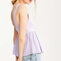 Truly Madly Deeply Annabella Peplum Tank Top | Urban Outfitters