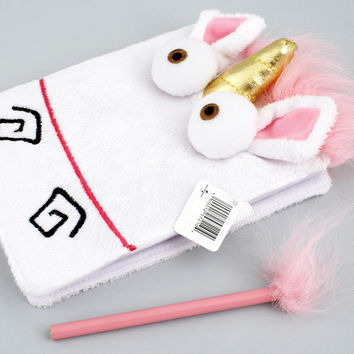 Despicable Me Unicorn Notebook & Fluffy Pencil Set from Minion Mayhem NEW