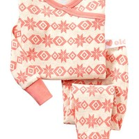Patterned Wrap-Front PJ Sets for Baby