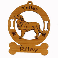 3622 Nova Scotia Duck Tolling Retriever Standing Ornament Personalized with Your Dog's Name