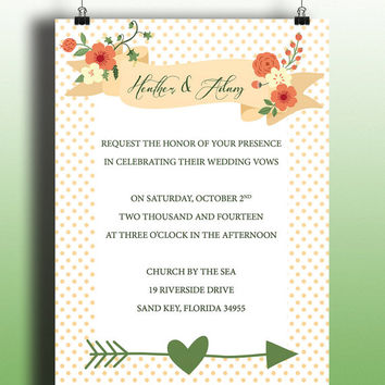 Instant Download-Floral Invitation Vintage Cottage Chic DIY Printable Birthday Party Baby Shower Wedding Bridal Invitation Template