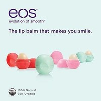 EOS Organic Smooth Sphere Lip Balm 6 Pack - 2 Each of Strawberry Sorbet, Summer Fruit, and Sweet Mint