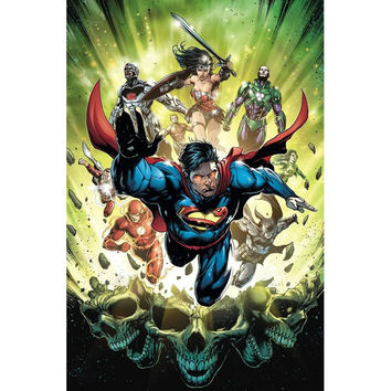 J0233- Justice League - Movie Anime Pop 14x21 24x36 Inches Silk Art Poster Top Fabric Print Home Wall Decor