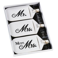 Lillian Rose™ Mr. and Mrs. White Luggage Tags (Set of 3)