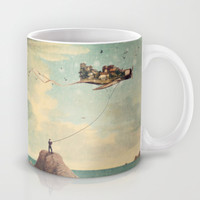 City Kite Afternoon Mug by Paula Belle Flores