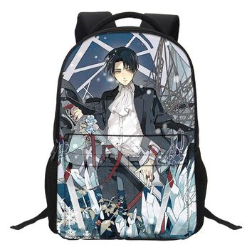 Cool Attack on Titan VEEVANV Anime Girls School Backpacks Teenagers Mochila Fashion Women Laptop Shoulder Bags  Pattern Boys Bookbags AT_90_11