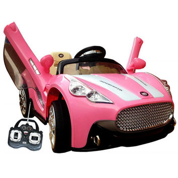 pink girls 6v maserati style sports car ride on 15995 kids electric cars little