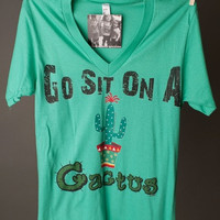 "Gina ""Go Sit on a Cactus"" Tee"