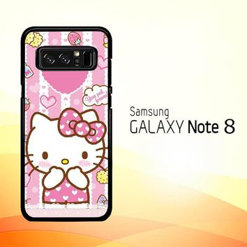 Hello Kitty Candy Pink L1944 Samsung Galaxy Note 8 Case