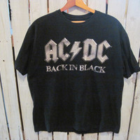 ACDC Back In Black T-Shirt, Size XL