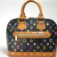 LOUIS VUITTON Monogram Alma Multicolor Hand Bag M92646 Auth F/S JAPAN
