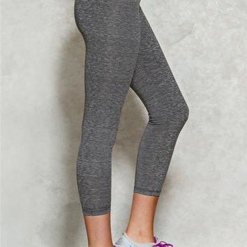 Charcoal Marled Workout Capri
