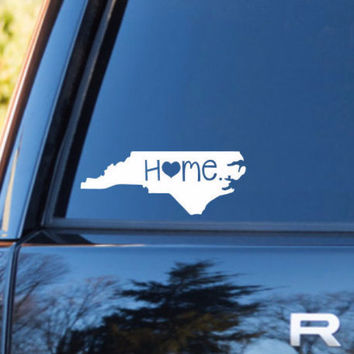 North Carolina Home Decal | North Carolina Decal | Homestate Decals | Love Sticker | Love Decal  | Car Decal | Car Stickers | 073
