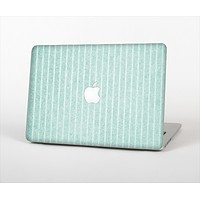 """The Light Green Scratched Stripe Pattern v4 Skin Set for the Apple MacBook Air 11"""""""