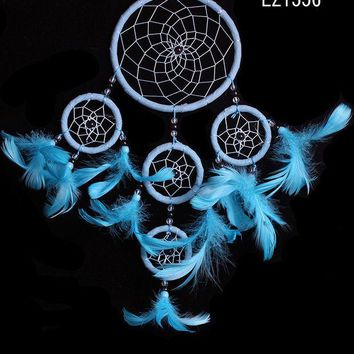 ICIKJ6E Environmental Indian Feather Wind Bell Ring Dream Catcher [9613387343]