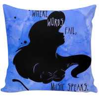 Ariel quote pillow