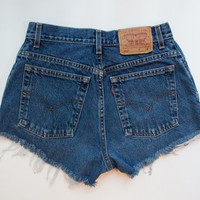 "ALL SIZES Vintage ""POSEIDON"" Levis High Waisted Denim Shorts"