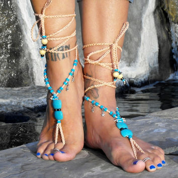 Salacia The Goddess Of Salt Water And Divinity Of The Sea / Barefoot Sandals By Iris (Small/Indie Brands)