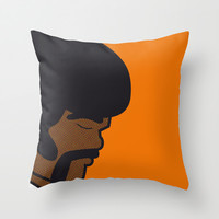 Pop Icon - Jules Throw Pillow by Greg-guillemin