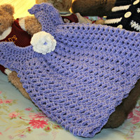 Crochet baby dress summer dress crochetyknitsnbits quality hand made baby girl clothes lavender blue white baby shower gift 3 to 9 months