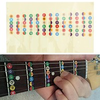 Guitar Musical Scale Sticker Guitar Accessories Professional Guitar Scale Sticker Coded Note Strips For Guitar Training Learning