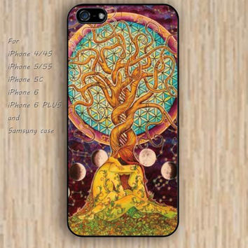 iPhone 5s 6 case watercolor tree blue pink Infinite dream catcher colorful phone case iphone case,ipod case,samsung galaxy case available plastic rubber case waterproof B620