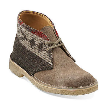 Desert Boot-Women in Woolrich Wool/Taupe Suede - Womens Boots from Clarks