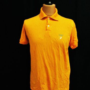 Vintage 1980s Leadership Yuppie T-Shirt Orange Polo Large