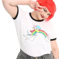 Hello Sanrio Rainbow Girls Ringer T-Shirt Plus Size