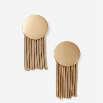 Matte Disc Tassel Earrings - Shop All Accessories - Bags & Accessories