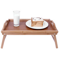 Songmics Bamboo Bed Tray Folding Breakfast TV Laptop Tray Table Hospital Serving Tray w' Handles Foldable Legs ULLD530