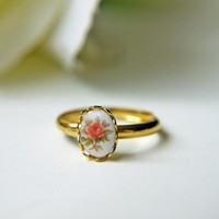 Victorian Rose. Vintage Gold Ring | Luulla
