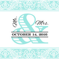 Mr. & Mrs. Lace - Wedding Mini Bottle Labels