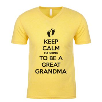 Keep Calm I'm Going To Be A Great Grandma Men's V Neck