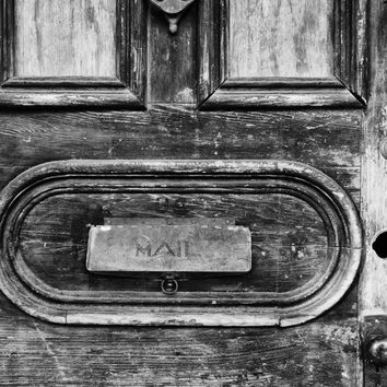 Old Wooden Door with a Mail Slot in the New Orleans French Quarter (PB104367)
