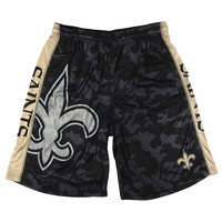 New Orleans Saints Official NFL Big Logo Camo Shorts