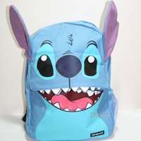 Licensed cool 2016 Disney Loungefly Lilo & Stitch FACE Teeth Ears Backpack School Book Bag NEW