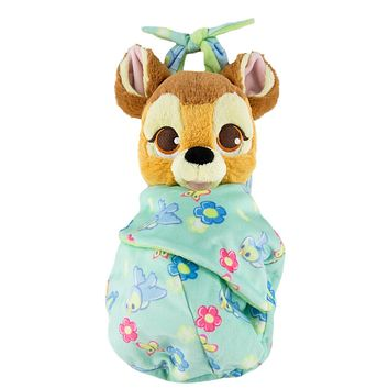 Disney Parks Baby Bambi in a Blanket Pouch Plush New with Tags