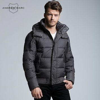 Men Down Parkas Thick Warmth Feather Coat  Black Navy Blue Olive Green Grey