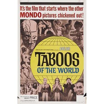 Taboos Of The World Movie poster Metal Sign Wall Art 8in x 12in