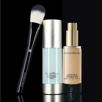 *SP VIPS SAVE A$109 Oil-Free Matte Skin Perfection Liquid Silk Foundation + Professional Makeup Base - Mirenesse