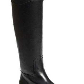 CREY3DS Tory Burch Boots Ashlynn Venus Leather Riding Boot Flat