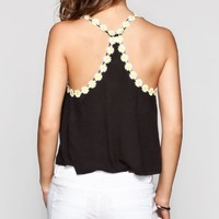 FULL TILT Daisy Trim Womens Crop Tank